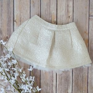 Gymboree Gold & Cream Tulle Skirt